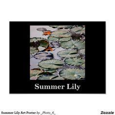 Summer Lily Art Poster