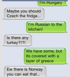 Country Puns Funny Cute, The Funny, Love Puns, Iphone Humor, Funny Text Conversations, Lol Text, I Love To Laugh, El Humor, Humour