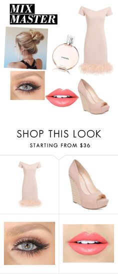 """Untitled #87"" by aahd-nagib on Polyvore featuring Jessica Simpson, Fiebiger, Chanel and patternmixing"