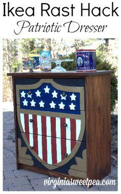 Patriotic Dresser – Ikea Rast Hack - Sweet Pea