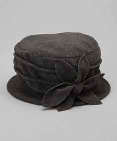 Take a look at this Gray Magnolia Fleece Bucket Hat by Dynamic Asia on #zulily today!