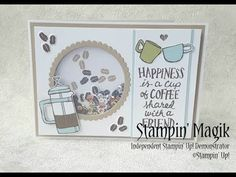 Love to Shake it ! I just love a good shaker card. Although they may not look it they are simple to make...and tones of fun! So tod...