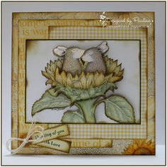 House-Mouse & Friends Monday Challenge: It's all about Flower Power for Challenge HMFMC201
