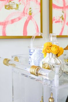 Petite Lucite Bar Cart by Katie Kime