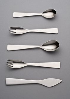 scandinaviancollectors:  GIO PONTI, stainless steel cutlery, 1951.