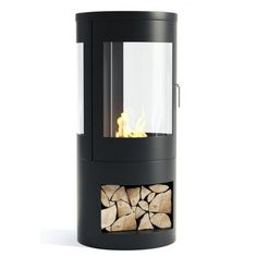 The Howarth in black combines Scandinavian style with the simplicity of bio-ethanol to create an impressive wood burner style bio ethanol stove. The Howarth is perfect for the modern day home as no chimney or flue is required and it can simply be insta Black Fireplace, Stove Fireplace, Intelligent Design, Plywood Furniture, Flueless Gas Fires, Bioethanol Fireplace, Fireplaces, Boiler Stoves, Modern Stoves