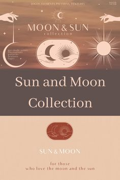 Make your brand stand out! This huge collection includes elegant graphics of the Sun, the Moon, hands, pre-made logos and scenes, patterns and textures. Minimalist Icons, Minimalist Design, Moon Illustration, Pattern Illustration, Hands Icon, Moon Logo, Moon Drawing, Astrology, Witch