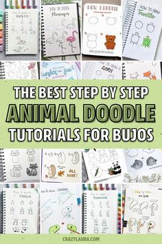 Check out the 20 best animal bullet journal DOODLES with step by step tutorials! Bullet Journal Notebook, Bullet Journal Ideas Pages, Bullet Journal Inspiration, Bullet Journals, Teddy Bear Doodle, Bujo Doodles, Planner Doodles, To Do Planner, Animal Doodles