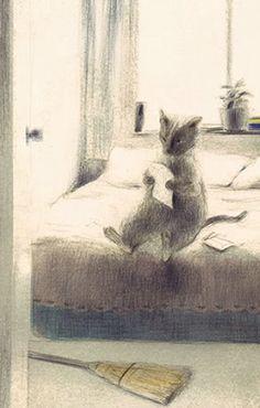 ¤ Reading cat by Chiaki Okada. Chiaki Okada a étudié l'illustration à l'école Setsu Mode. Ses travaux, très souvent publiés dans la presse japonaise, mettent en scène la vie quotidienne et les émotions des enfants. Ko Okada, son mari, écrit les textes avec elle.