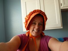 Home Delicious: Pioneer Trek Week - How to Sew a Bonnet Tutorial - I need to make one for gardening