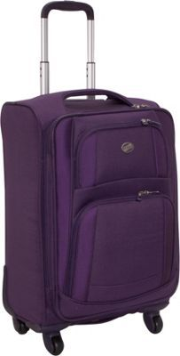 """American Tourister iLite Supreme 21"""" Spinner CLOSEOUT Purple - via eBags.com! $77 (closeout) / 21"""" x 14.5"""" x 8.5""""  // 7 lbs, 12 oz Material: 1200 X 900 denier polyester w dobby Warranty: 10 Years Linear Inches: 44"""""""