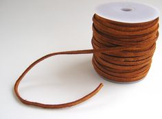 Suede Lace Cord 4mm Warm Light Brown 3 yards Bulk Unfinished Wholesale Leather Cord Jewelry Supplies Supply CrazyCoolStuff