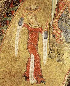 La danza di Salome e il martirio di Giovanni Battista, mosaico trecentesco della Basilica di San Marco, Venezia.