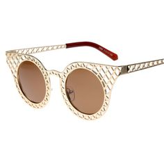 Designer Hollow Out Sunglasses