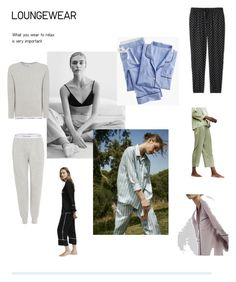 """""""Pijamas"""" by marta-naffa-wr on Polyvore featuring COS, Calvin Klein, Uniqlo, J.Crew, Oysho and LovelyLoungewear"""