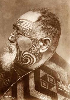 New Zealand | Portrait of Paori Tuhaeri, Orakei Chief by Frederick Pulman | Late 19th century