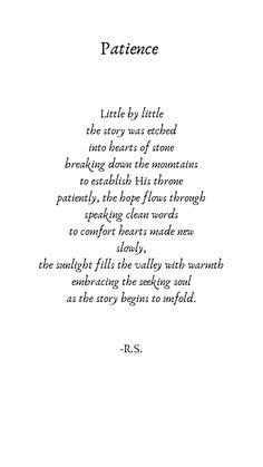 Flower Poetry, Patience, Poems, Instagram, Poetry, Verses, Poem