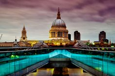 St Paul's Cathedral from Millennium Bridge, London