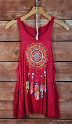 SF Stylist: Anything Native American Themed is love - I love tank tops for summer Country Fashion, Country Outfits, Western Outfits, Western Wear, Boho Fashion, Hippie Style, Ethno Style, Bohemian Style, Summer Outfits