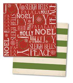 { my mind's eye } Sleigh Bells Ring Noel paper
