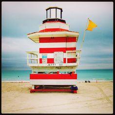 Miami Florida, Jetty lifeguard station, Florida
