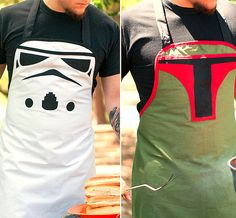 Grillin Villain Stormtrooper Apron ($85.00) from Haute Mess. This kickass, custom-designed apron features adjustable halter style straps, ties in the back at the waist, and of course, a big, evil Stormtrooper face on the front that's scary enough to sear any raw meat simply with its icy, robotic gaze.