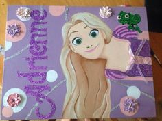 Personalised Canvas with Rapunzel!
