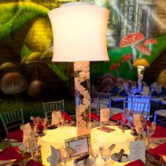 mad hatter lamp shade centerpiece