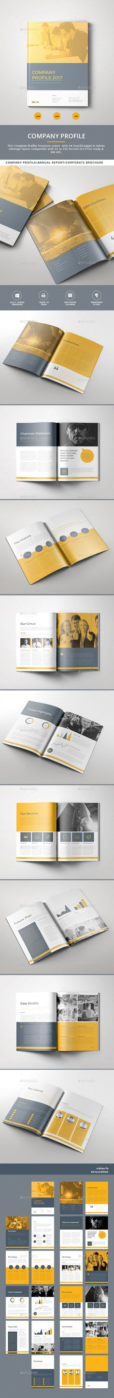 The Company Profile Design Template - Corporate Brochure Template InDesign INDD. Download here: https://graphicriver.net/item/the-company-profile/17037014?s_rank=45&ref=yinkira