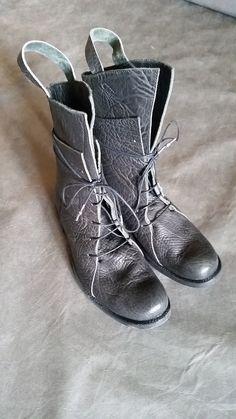 Boris Bidjan Saberi Multi Layered Horse Leather Boots Metal Junction