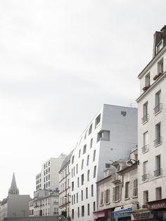 Logements rue St Maur / Avenier Cornejo ©SchneppRenou Rue, Facade, Saints, Multi Story Building, Architecture, Dogwood Trees, Santos, Facades