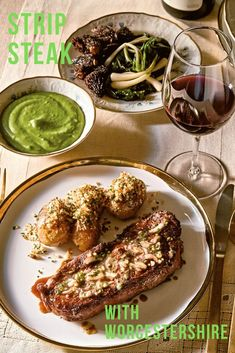 Sean Brock's Strip Steak with Worcestershire