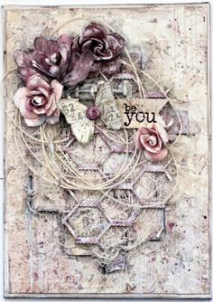 Be You. Mixed Media canvas. by tiffanyspaperdesigns on Etsy