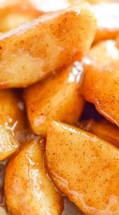 Brandied Cinnamon Apples (Cinnamon Apples with Brandy)! Let's use these as a topping for #mexicanvanilla!