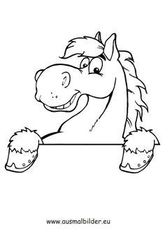 Ausmalbilder Pferdekopf