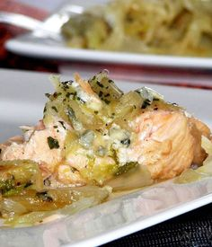 Recipe: Grilled Salmon Steak with Cheesy Sauce