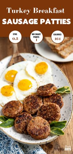 Delicious Homemade Turkey Breakfast Sausage Patties - tasty simple ingredients and the perfect way to start the day with your choice of eggs or other breakfast sides. Turkey Breakfast Sausage, Homemade Breakfast Sausage, Chicken Breakfast, Paprika Sauce, Spaghetti Nester, Homemade Turkey Sausage, Turkey Patties, Turkey Mince, Slimming Eats