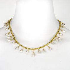Jeff & Susan Wise at Patina Gallery. Necklace, Gold and White Cultured Pearls