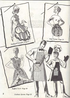 1960s How To Make Aprons Pattern Book Tea by AdeleBeeAnnPatterns