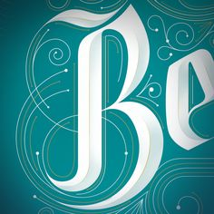 Dimensional lettering. 5280 Magazine by Jordan Metcalf, via Behance.