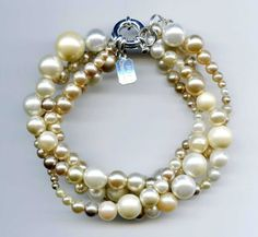 OOAK RePurposed Mixture Faux Pearl Vintage Beads by holyinspired, $34.95