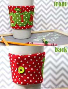 how to make a DIY coffee cozy; including step-by-step pictorial ~ great Mother's Day or Teacher Appreciation gift ideas #sewing #mothersday #teacherappreciation