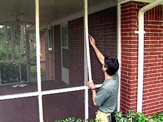 faster way to install porch screens | porch and screens - Screen Patio Ideas