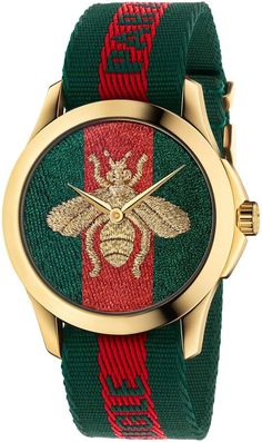 6283fe2945 Gucci Le Marche Des Merveilles Nylon Strap Watch