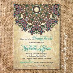 Rustic Byzantine Printable Invitation by AllisonKizerDesigns, $16.00