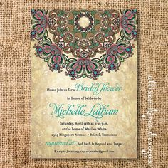 Rustic Byzantine Printable Invitation by AllisonKizerDesigns, $16.00