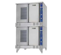 "SUMG-200 38"" Summit Series Double Deck Full-Size Convection Oven Solid State Controller Two Speed Fan Control with 3/4 HP Fan Motor Direct Spark Ignition in Stainless Steel"