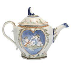 Rare Prattware Sportive Innocence Teapot