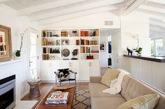 1950s ranch redo white + light + charcoal countertops by Feldman Architecture