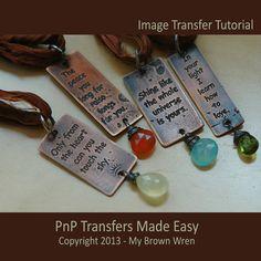Design Transfer Tutorial  Etch Your Own Design In by MyBrownWren, $9.99